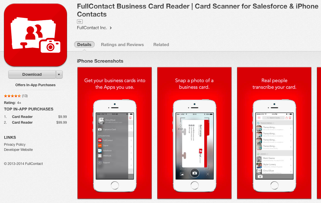Business Card App Reader Image collections - Card Design And Card ...
